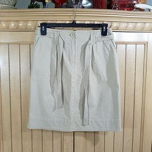 Talbots Stretch Beige Mini Skirt, sz 12